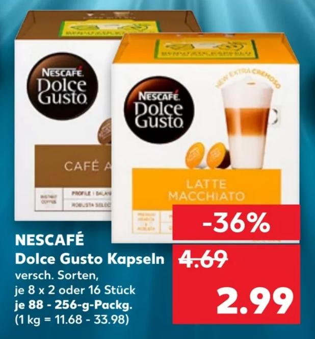 [Kaufland ab 21.01] Dolce Gusto Kapseln für 2,99€ / Melitta Auslese für 2,99€ / Nussini 5St. für 1,49/ Red Bull Energy 0,79€