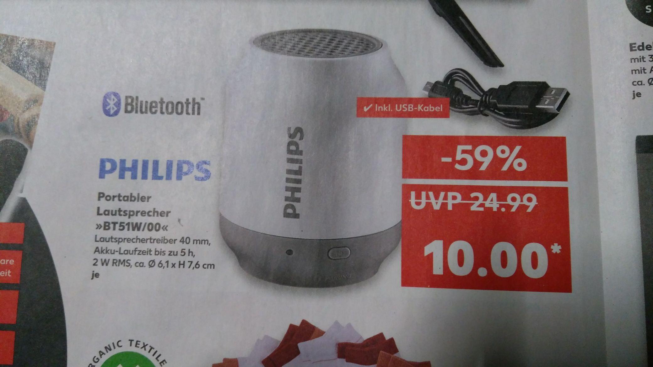 [Kaufland Halle/Saale] Philips BT51W/00 Bluetooth Lautsprecher für 10€, 3 für 25€
