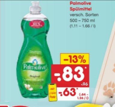 NETTO MARKENDISCOUNT: Palmolive Spülmittel für 63 Cent