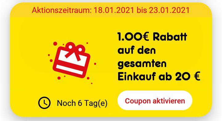 Netto App + Deutschlandcard: Mind. 1,90 Euro Rabatt ab 20 Euro Einkauf