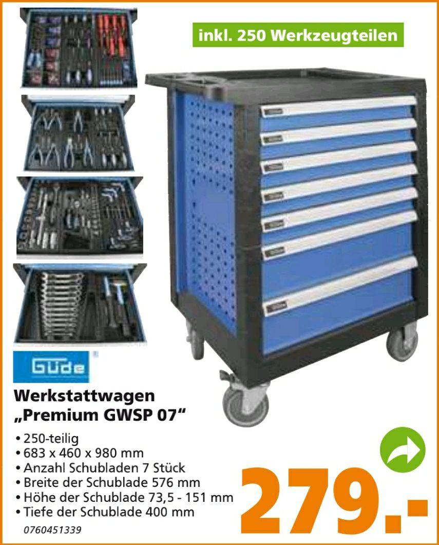 Güde Werkstattwagen Premium GWSP 07 250-teiliges Werkzeug-Set Abholung im Markt kostenlos