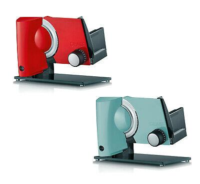 Graef Allesschneider MultiCut Plus S32107MB rot oder türkis (45-170W, 15°-Winkel, 0-20mm Schnittstärke, Edelstahlmesser, Vollmetallgehäuse)