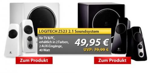 Logitech z523 2.1 Lautsprechersystem in weiß und schwarz (49,95 € - vk-frei)