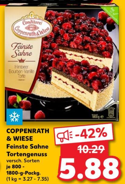 [Kaufland FR+SA] Coppenrath & Wiese Feinste Sahne Torte mit Coupon für 4,88€