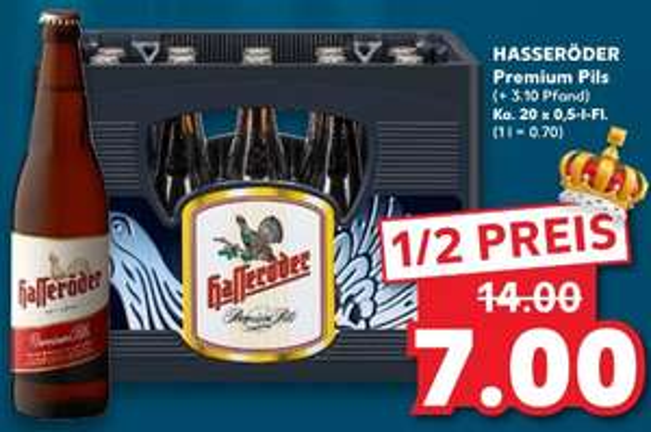 [Kaufland] ab 21.01 Hasseröder Premium Pils Bier 20x05L zu 7,00€ + 3,10€ Pfand