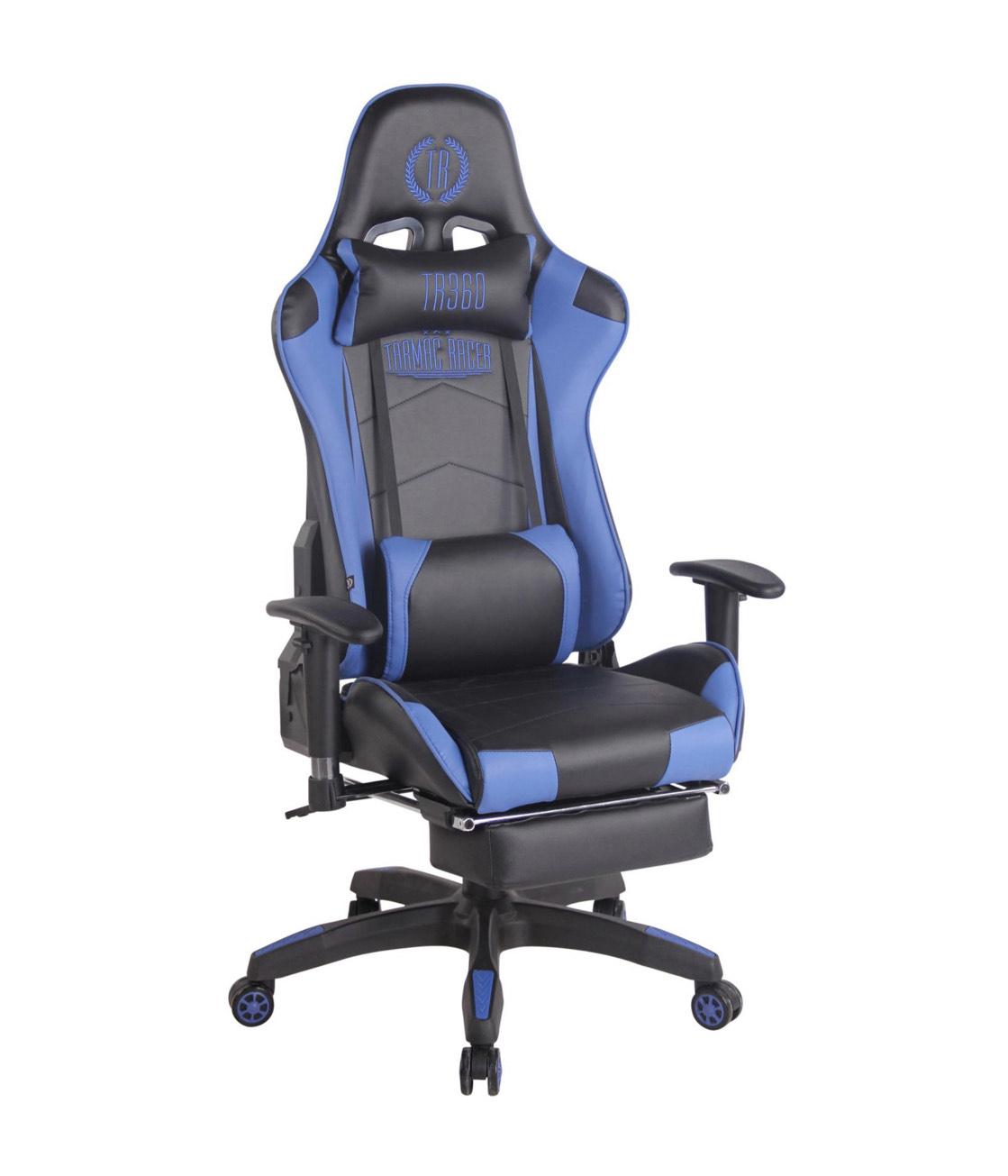 Netto-Online CLP Bürostuhl / Gamingstuhl Turbo XL Kunstleder I Schreibtischstuhl Mit Fußablage I Drehstuhl Max. Belastbarkeit 150 kg