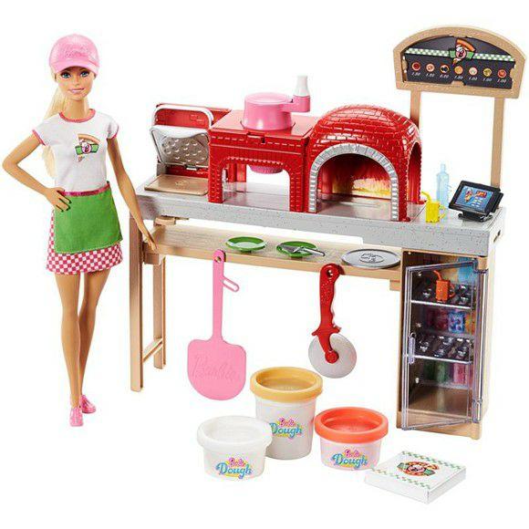 [coolshop.de] Mattel Barbie Cooking und Baking Pizzabäckerin, Puppe und Spielset mit Spielknete