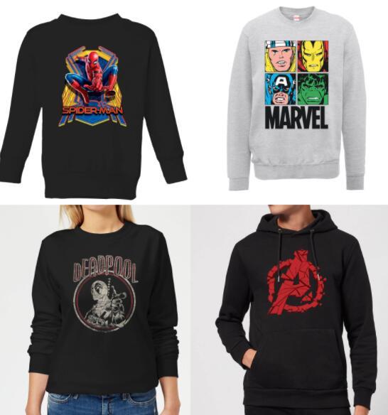 [Zavvi] 40% auf Marvel Hoodies (20,99€) und Pullover (17,99€) zzgl. 1,49€ Versand (Auswahl aus 852 Artikeln)