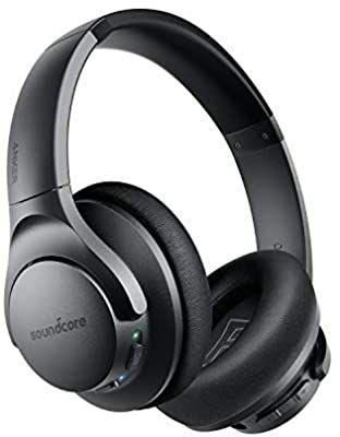 Soundcore Life Q20 Bluetooth Kopfhörer, Aktive Geräuschunterdrückung, 40 St. Wiedergabezeit, Hi-Res Audio, Intensiver Bass