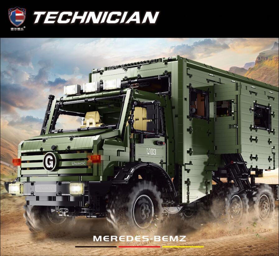 LR-J907 6689PCS Technology Model Series Unimog Klemmbausteine / Technik