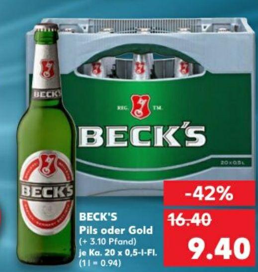 Beck's - bei Kaufland ca. 42% günstiger