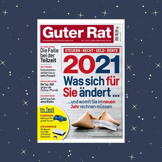 [Guter Rat] 6 Ausgaben für 19,80 € plus 10 € AMAZON-Gutschein