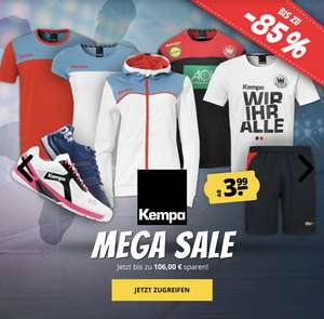 [SportSpar] Kempa Mega Sale bis zu -85% sparen!!