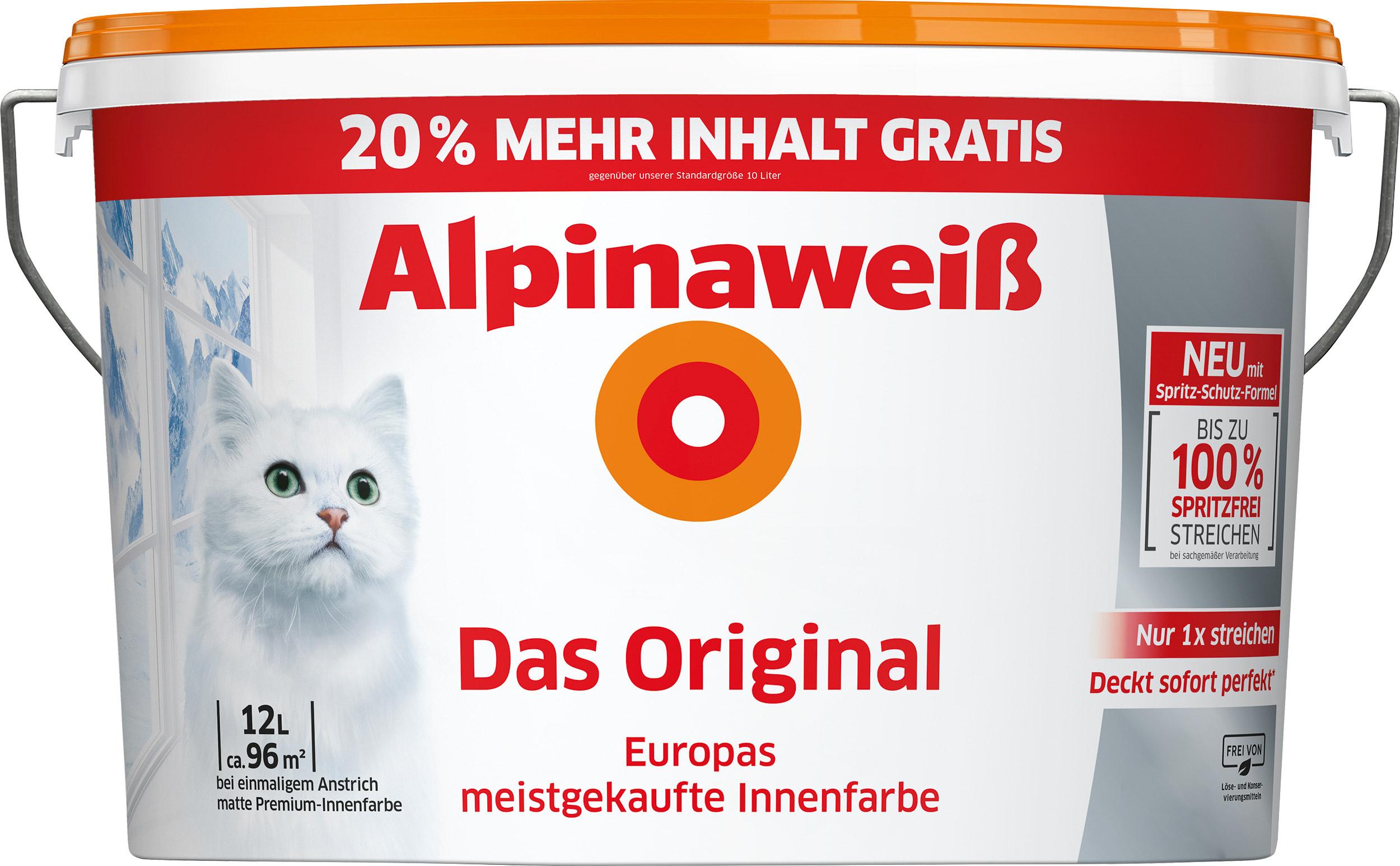 Alpinaweiß Das Original 12 l, weiß, matt (Marktabholung)