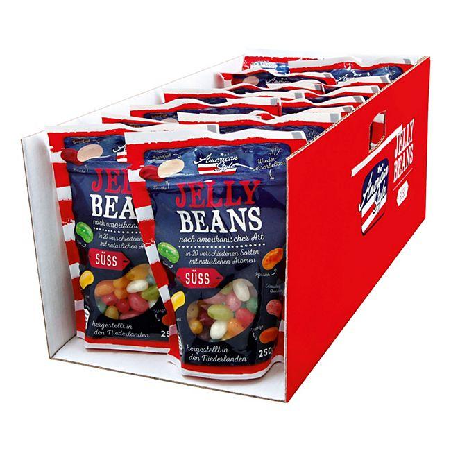 14x American Style Jelly Beans 250 g für 11,37€ anstatt 24,50€ (4,95VK, ab 50€ ohne VK)