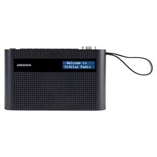 Medion P66007 tragbares DAB+ Radio (DAB+, UKW, Bluetooth 5.0, integrierter Akku) schwarz oder weiß