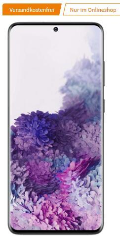 Samsung Galaxy S20+ 128GB schwarz im O2 Free M 20GB LTE Max für 29,99€ monatlich und 29€ einmalig