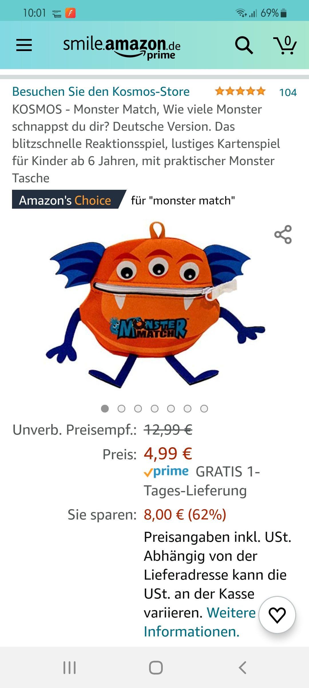 [PRIME] AMAZON Monster Match Reaktionsspiel Kosmos