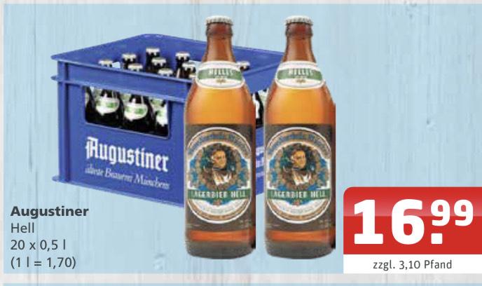 Lokal Düsseldorf Augustiner Hell 20x0,5L für 16,99€