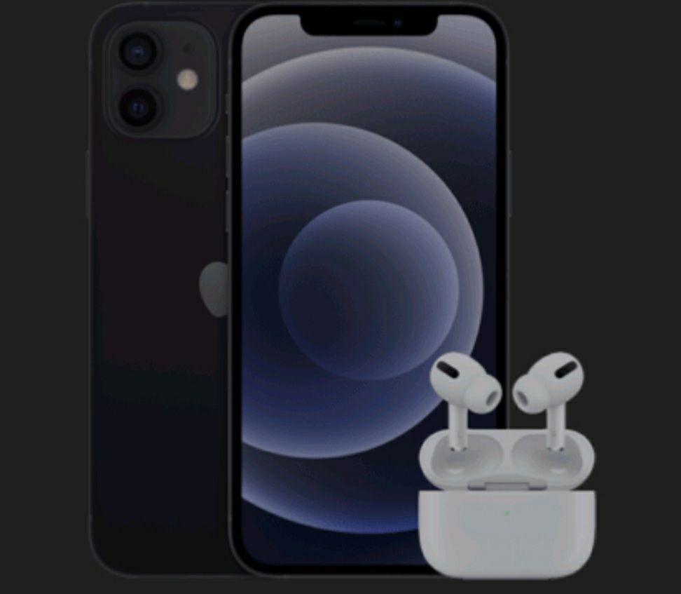 Apple iPhone 12 mit AirPods Pro mit Vertrag O2 Free L Boost mit 120 GB für eff. 1313€
