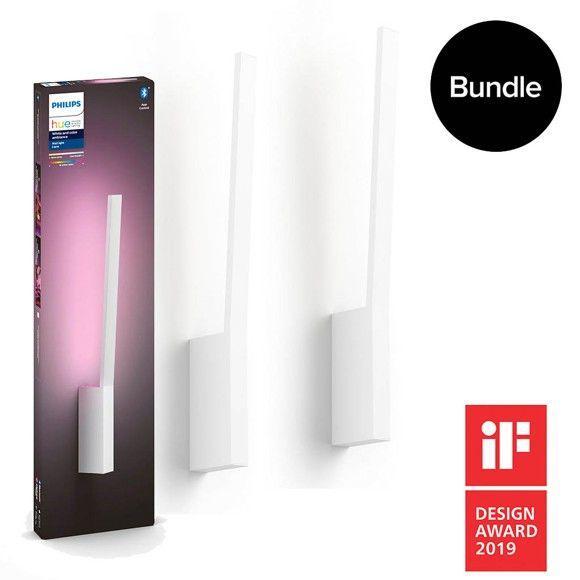 Philips Hue Color Wandleuchte Liane Doppelpack - Mit Bluetooth & ZigBee