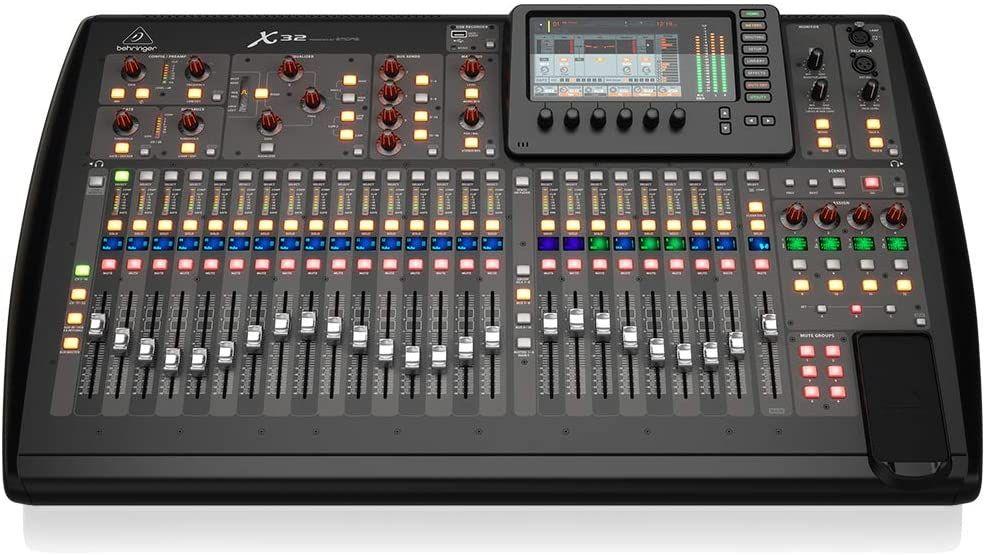 Behringer X32 Total Recall - digitales Mischpult für Live und Recording Anwendungen (32 Kanal, 16 Bus)
