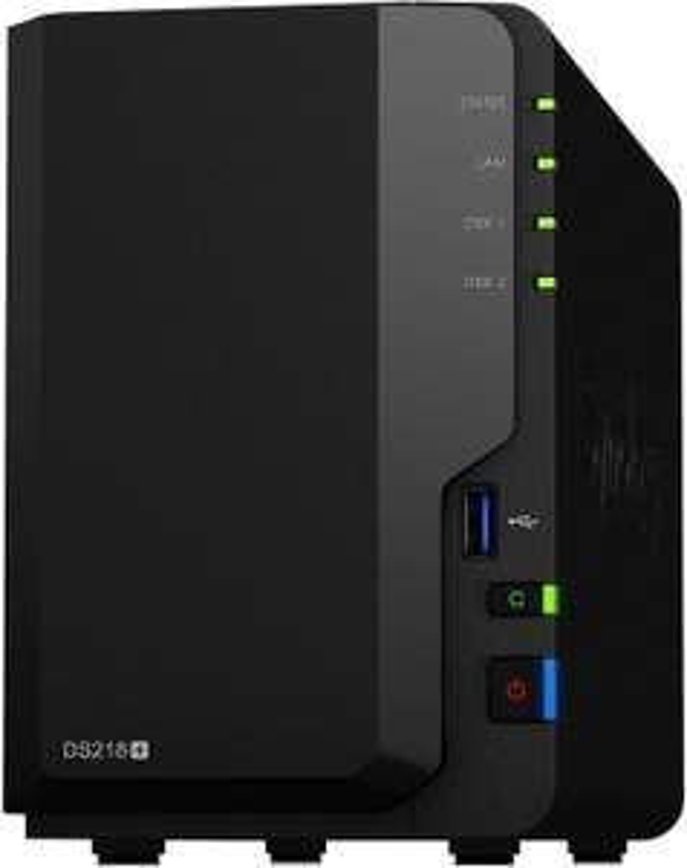 Synology DS218+ DiskStation NAS-Server 2-Bay Desktop Server 2GB RAM - Leergehäuse