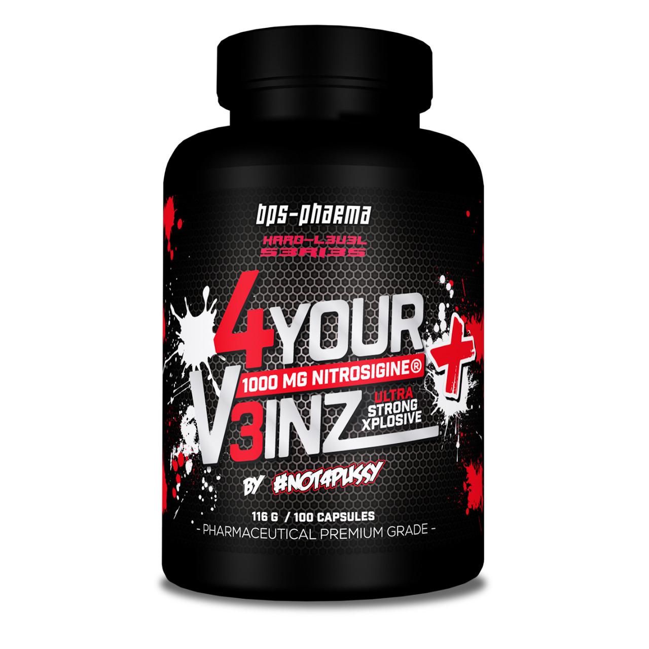 [Bodybuilding] 4 Your V3inz + Nitrosigine Pumpsupplement von BPS Pharma - Versandkostenfrei ab 65€