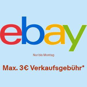 eBay: Max. 3€ oder -70% Verkaufsgebühr / Verkaufsprovision vom 22.01. bis zum 25.01.2021 für eingeladene private Verkäufer