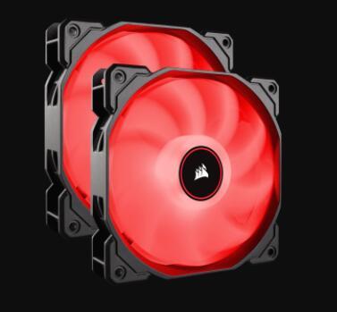 [Prime]2x Corsair AF140 Air Series LED Geräuscharmer Lüfter (140mm, Doppelpack) rot [ CO-9050089-WW ]