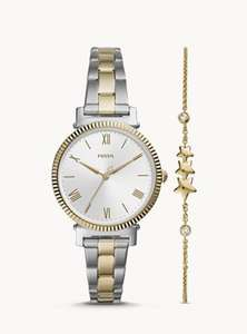 Fossil Damenuhr zusätzlich 30% Rabatt - Set Armband + Damenuhr