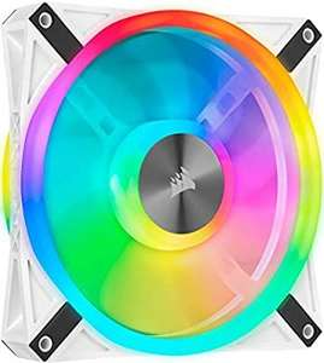Corsair iCUE QL140 RGB, 140-mm-RGB-LED-PWM-Lüfter (34 Einzeln Ansteuerbare RGB-LEDs, Geschwindigkeiten bis zu 1,250 U/Min,