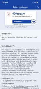 999 Paybackpunkte extra als Neukunde bei QVC