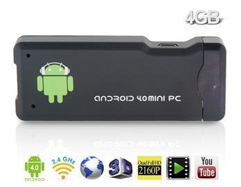 Android 4.0 TV Stick  (1.5GHz / 1 GB Ram / 4GB intern. Speicher / WLAN / Bluetooth) für 31.78€