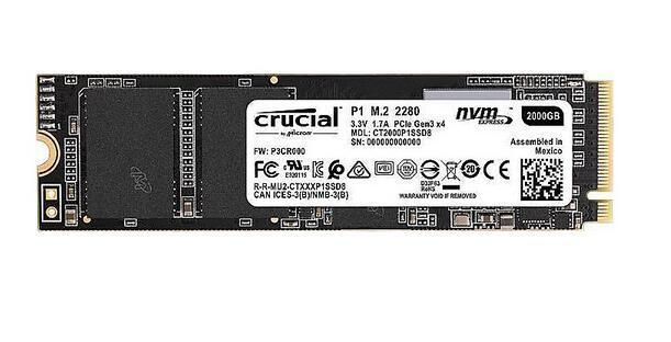 Crucial P1 NVMe SSD 2 TB M.2 PCIe zum Superpreis für nur 149 € bei Cyberport