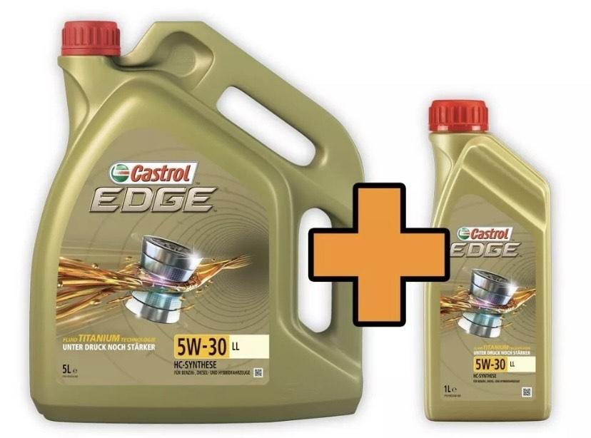 6 Liter Castrol EDGE Titanium FST 5W-30 LL Motoröl