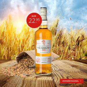 Whisky Deals #69: Greign 20 Jahre Single Grain Scotch Whisky 40% vol. (0.7 Liter) für 28,90€ inkl. Versand