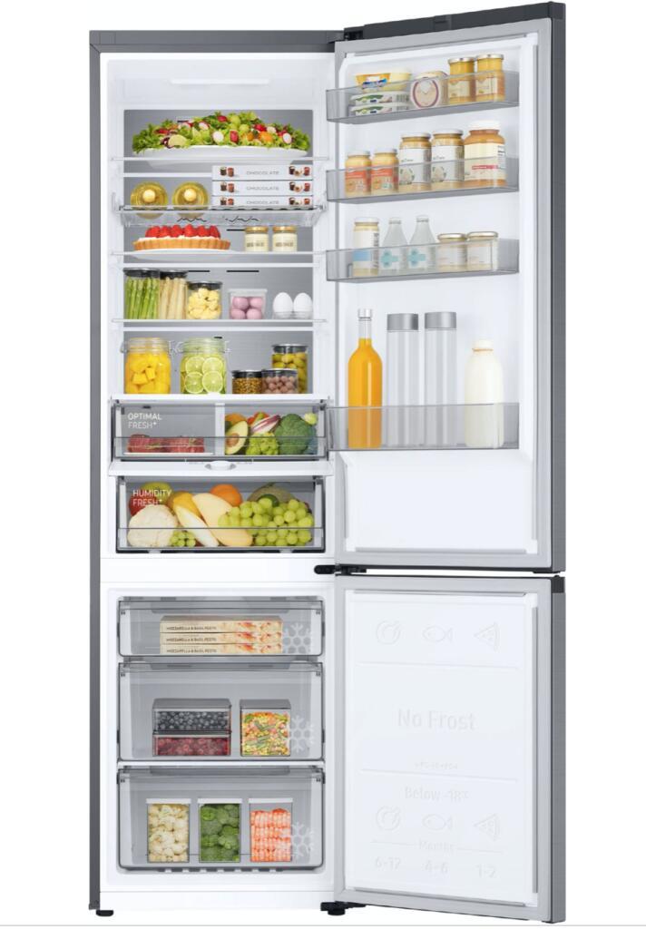 Samsung RL38T775DSR Kühl-/Gefrierkombination, Edelstahl ( Nutzinhalt: 385l, No Frost+, Optimal Fresh+, A++, Temperaturanzeige )