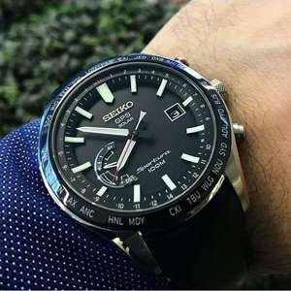 Seiko Sportura SSF007J1 GPS Solar Uhr - Kal. 8X22 - Saphirglas mit Super-Clear-Beschichtung - Keramiklünette - Japan made