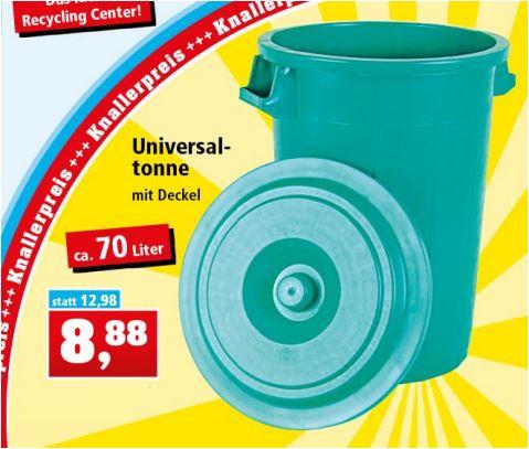 Universaltonne 70 Liter mit Deckel für 8,88 Euro [Thomas Philipps - geöffnete Filialen*]
