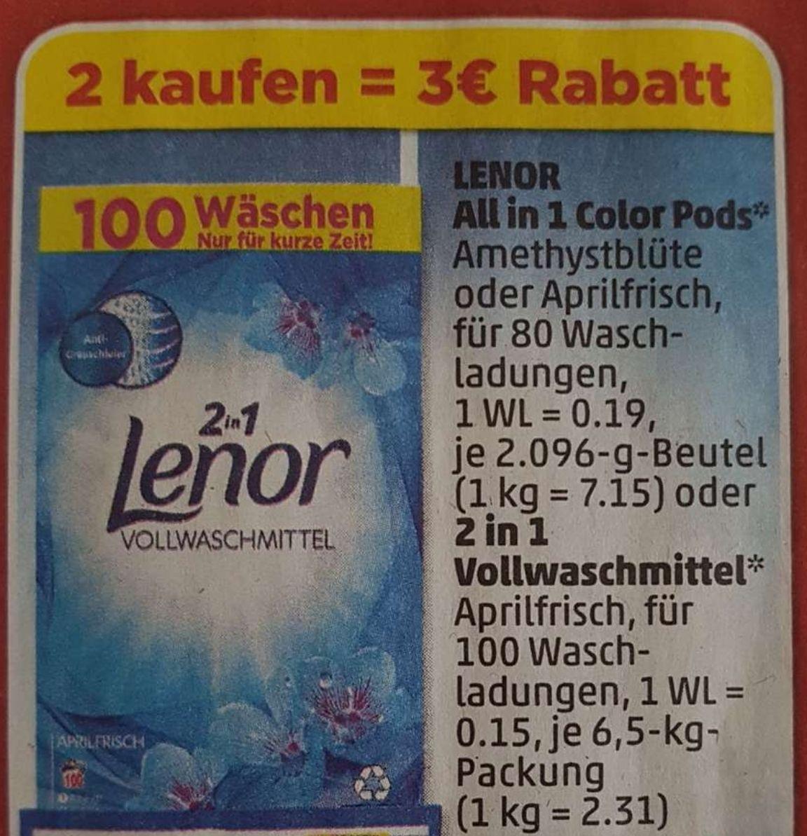 Lenor 3€ Rabatt Coupon aus dem Penny Prospekt.