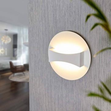 Avellino Eco Light LED-Wandleuchte ( Aluminiumguß, 450 lm, 6 W, Durchmesser 18 cm, IP20, weiß 8703 )