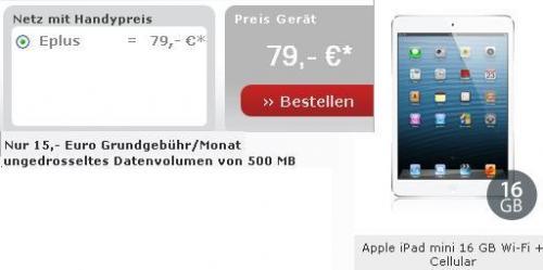 iPad Mini 16GB 4G UMTS mit Datenflatrate