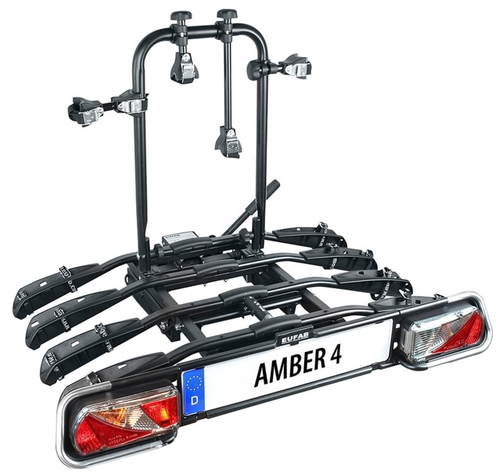 4er Fahrradträger f. Anhängerkupplung abklappbar B-Ware EUFAB Amber IV