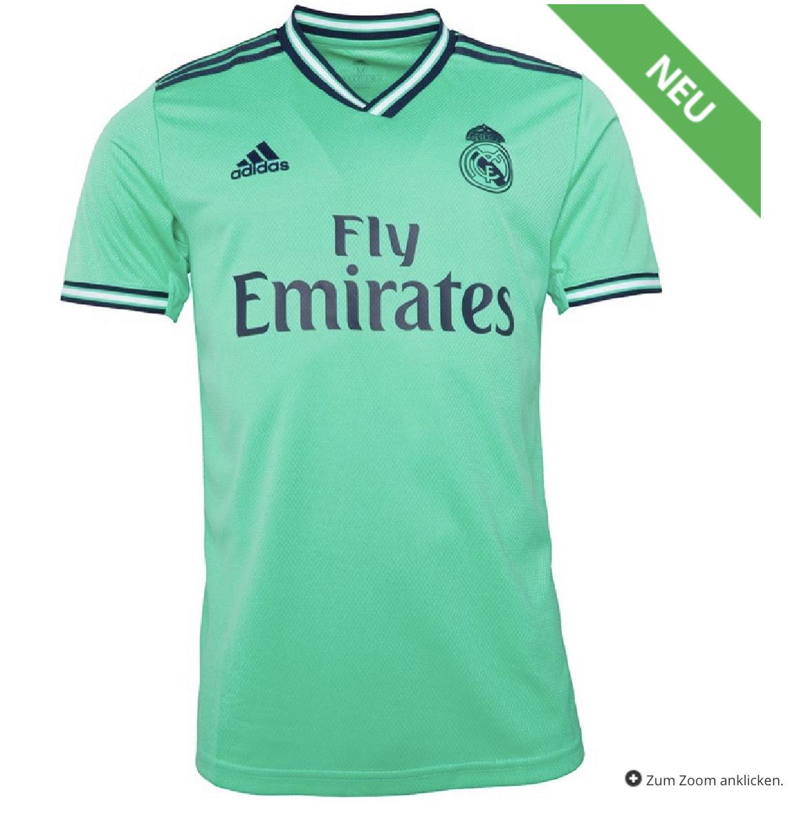 adidas Herren RMFC Real Madrid Third Trikot Grün Saison 19/20 nur 33,44€ alle Größen [mandmdirect]