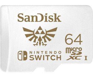 SANDISK microSDXC UHS-I Speicherkarte für Nintendo Switch, 64 GB, Speicherkarte, Weiß [Saturn & Mediamarkt & Prime]