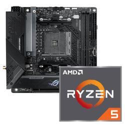 Aufrüstkit AMD Ryzen 5 5600X (6x 3,7GHz) + ASUS ROG Strix B550-I ITX Gaming Mainboard