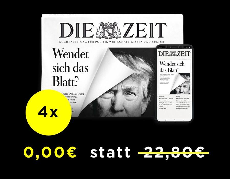 4x Die ZEIT, print oder digital. Kündigung notwendig.