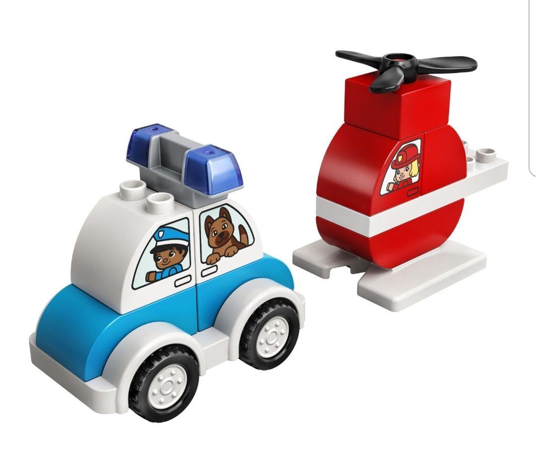 Lego Duplo   Feuerwehr Hubschrauber & Polizeiauto   Thalia Club