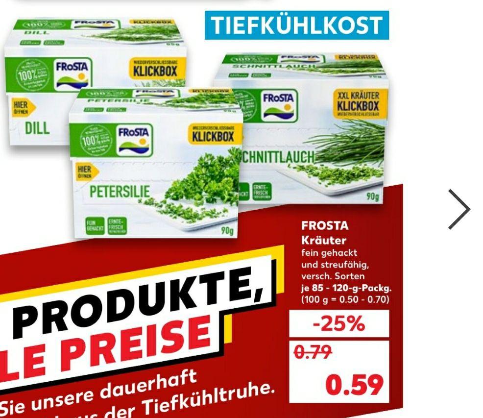 Frosta Kräuter für nur 0.59€ bei Kaufland.
